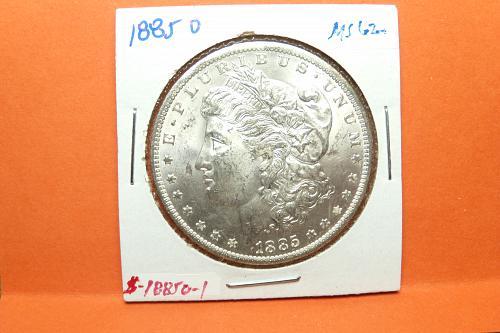 1885O Morgan Dollar  MS62  #$-1885O-1