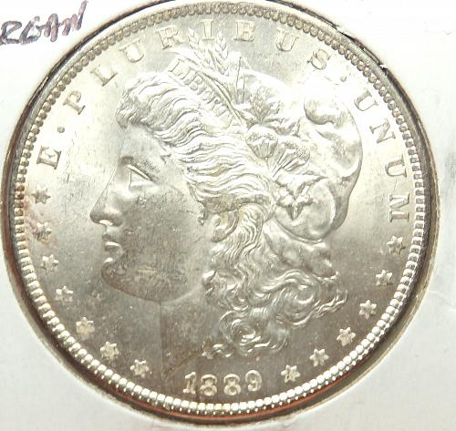 1889 Morgan Dollar  AU58  #$-1889-1