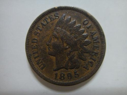 1895 Indian Cent Extra Fine-45 Three & One Half Diamonds Nice Minimal Marks!