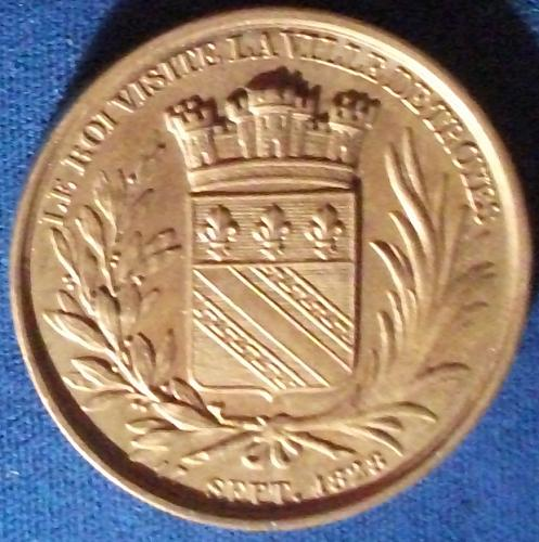 1828 French Medal, Charles X Visit to Villa De Troyes