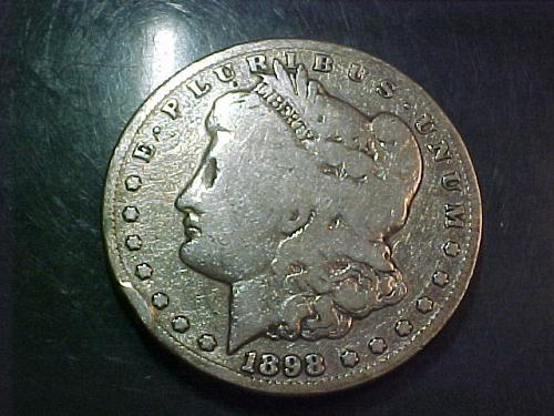 1898 S MORGAN DOLLAR     ad74