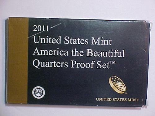2011 S UNITED STATES MINT AMERICA THE BEAUTIFUL QUARTERS PROOF SET.