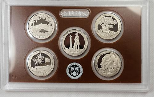 2013 S America the Beautiful Proof Quarter Set