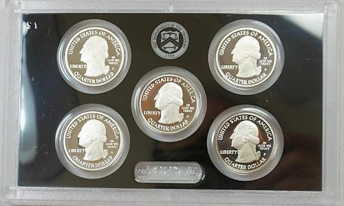 2013 S America the Beautiful Proof Quarter Set - Silver