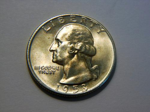1953-D Silver Washington Quarter