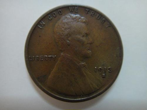 1913-S Lincoln Cent Extra Fine-40 Beautiful Rich Chocolate Clean Fields . . .