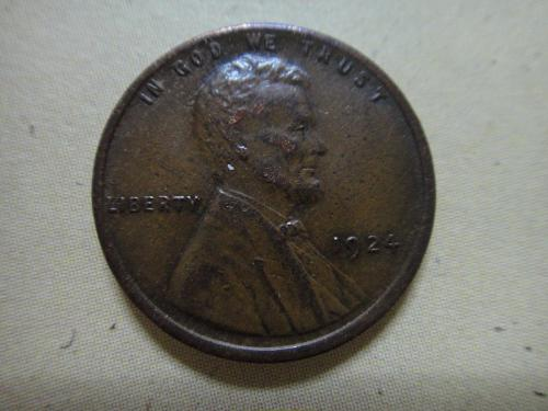 1924 Lincoln Cent Almost Uncirculated-55 Gorgeous Glossy Lusterous Sharp Strike!