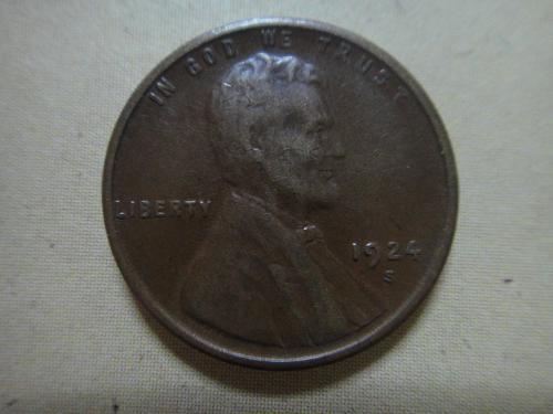 1924-S Lincoln Cent Very Fine-20 Nice Milk Chocolate & Minimal Marks!