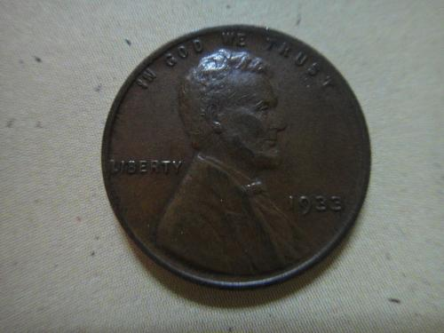 1933 Lincoln Cent Extra Fine-45 Attractive LUSTER Nice For Date!