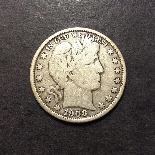 1908 O Barber Half Dollar, F imo, see pics and description! (cn1)