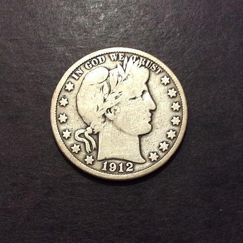 1912 D Barber Half Dollar, VG imo, see pics and description!(cn1)