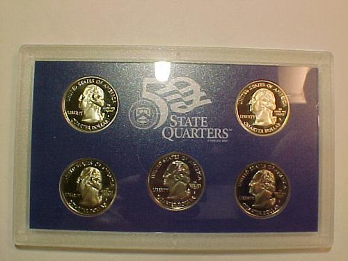 ALL 5 2000 S STATE QUARTERS IN US MINT HOLDER