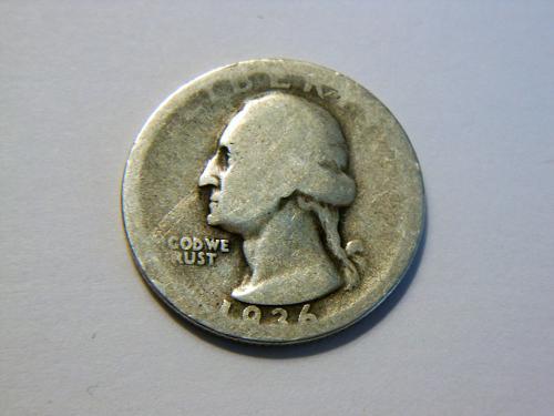 1936-D Silver Washington Quarter