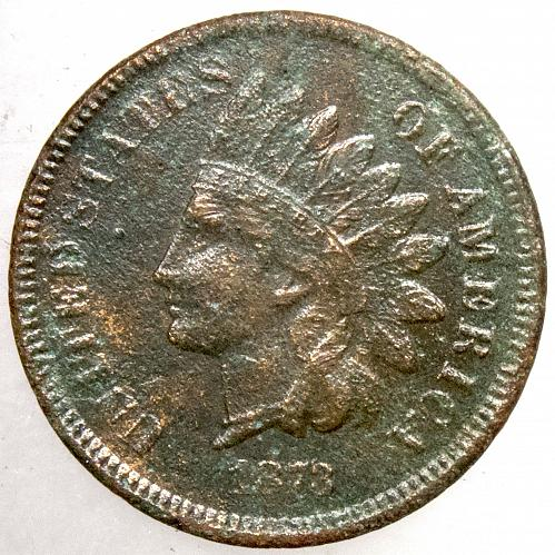 1873 P Indian Head Cent #9 Open 3