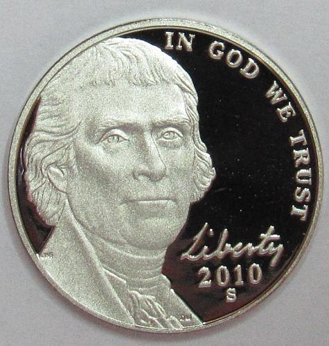 2010 S Proof Jefferson Nickel