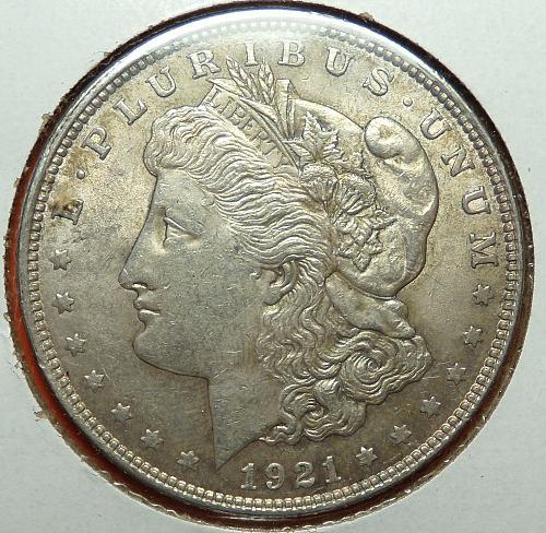 1921 Morgan Dollar  AU58  #$-M1921-1