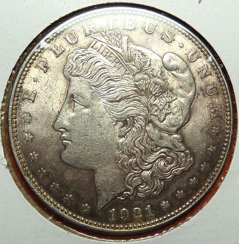 1921 Morgan Dollar  AU58  #$-M1921-2