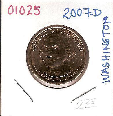 2007-D Presidential George Washington