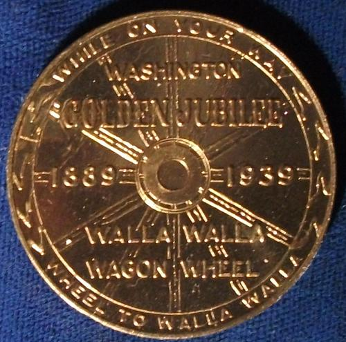 1939 Walla Walla (Washington) Wagon Wheel Souvenir