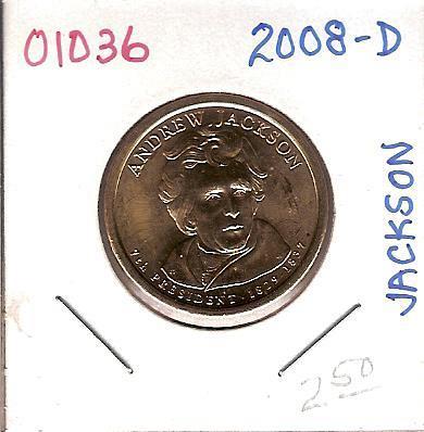 2008-D Presidential Andrew Jackson