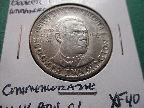 1946  SF40 Booker T Washington Commemorative Half Dollar.  Item CM 46 BTW-01.