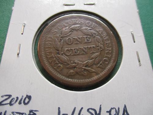 1854  F15 Braided Hair Large Cent.  Item: 1 LG54-01.
