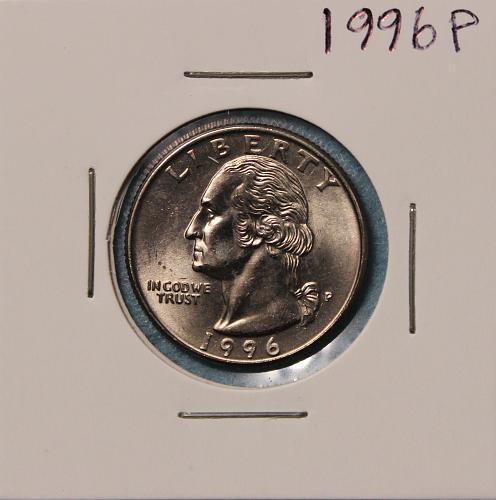 1996 P Washington Quarter