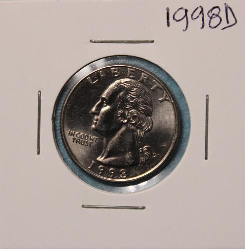 1998 D Washington Quarter