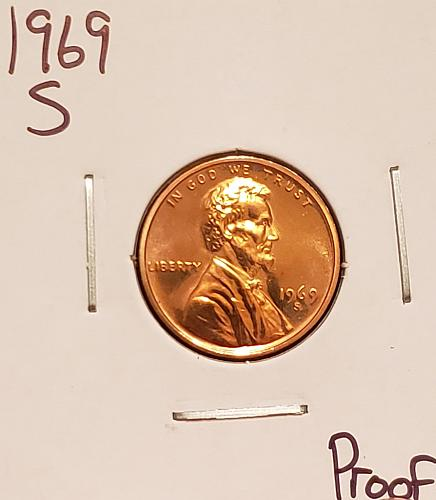 1969 S Lincoln Memorial Cent Small Cent - Proof