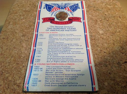 1976 Bicentennial Penny and Pamplet