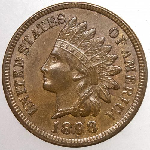 1898 Indian Head Cent #29 Natural Brown