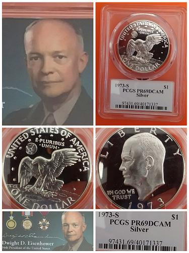 1973S Eisenhower 40% Silver Dollar PCGS Proof 69 DCAM
