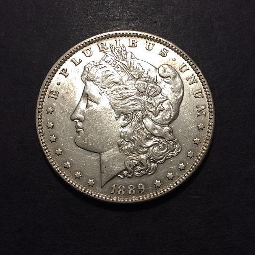 1889 P Morgan Dollar, solid AU imo, original luster (cn2)