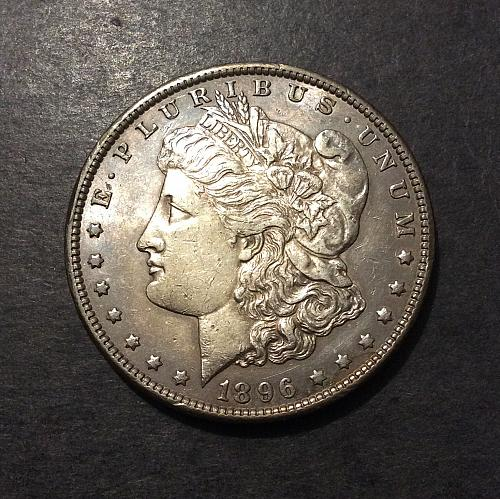 1896 P Morgan Dollar, awesome toning with underlying luster