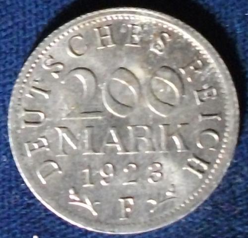 1923F Germany/Weimar 200 Mark UNC