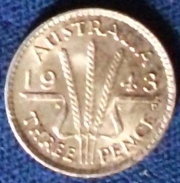 1943D Australia Threepence AU