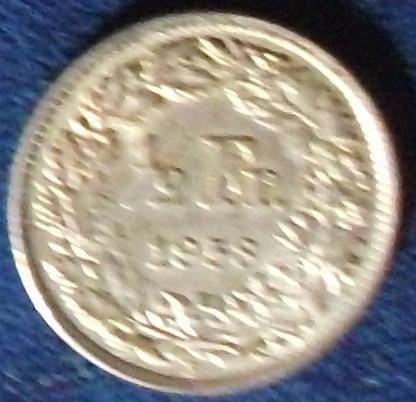1958 Switzerland 1/2 Franc XF