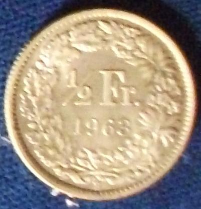 1963 Switzerland 1/2 Franc XF