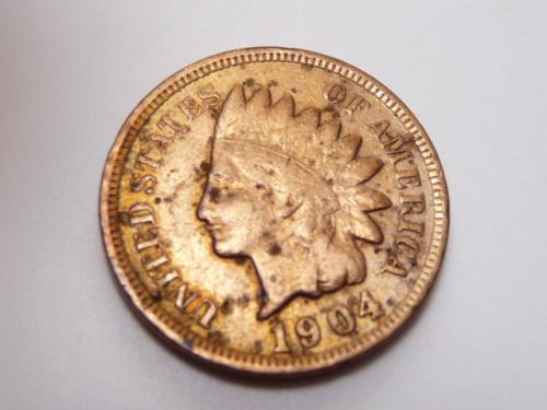 1904 INDIAN HEAD CENT IN FINE CONDITION  K-8-20