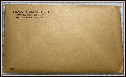 1962 1C-50C United States Mint Silver Proof Set  (Envelope Never Opened)