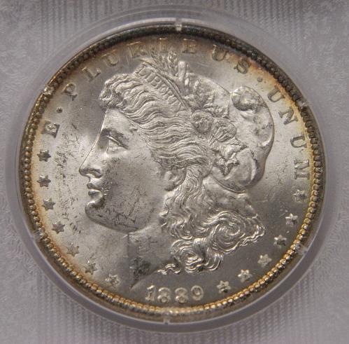 1889 Morgan Dollar MS63 Old Blanchard Slab