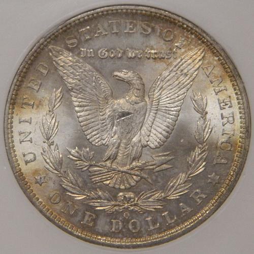 1904-O Morgan Dollar MS62 Old HALLMARK Slab Holder Toned