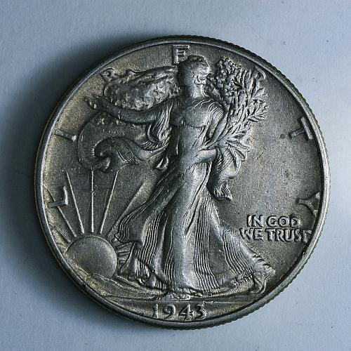 1943 P Walking Liberty Half Dollar AU