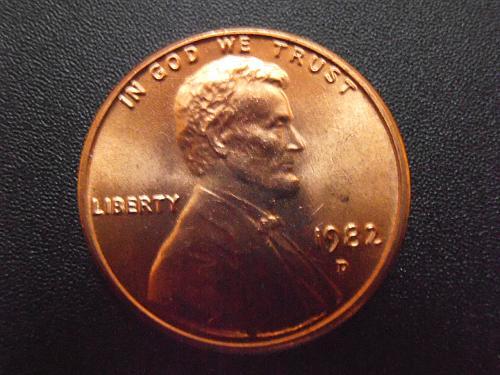 1982 D BU Bronze Lincoln Cent