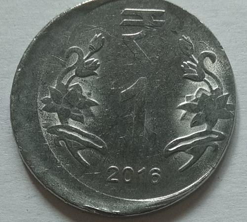 B)....India error coin..2016.. Calcutta mint