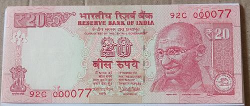 2017....000077.. UNC..India note
