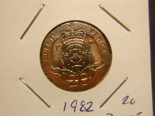 GREAT BRITAIN 1982 TWENTY  PENCE