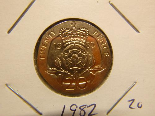 GREAT BRITAIN 1982 TWENTY  PENCE