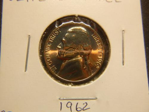1962 P Jefferson Nickels