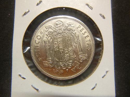 SPAIN 1949 CINCO PESETAS
